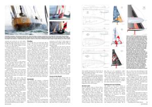 Double page de Seahorse magazine sur les Classe 40 et le naufrage du voilier Crosscall Chamonix Mon Blanc (ex-Carac)